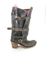 39/8.5 - Fiorentini + Baker Laverne Lety Brown Buckle Heeled Tall Boots ... - $190.00