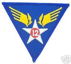 12TH Air Force Usaf Authentic Color Shoulder Patch - $13.53