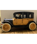 """9"""" Arcade Cast Iron Yellow Taxi Cab With Driver 1920s Replica - $173.24"""