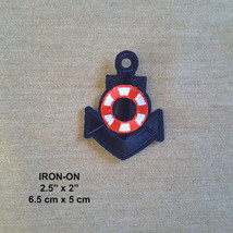 Anchor Nautical Embroidered Iron-on Emblem Vest Patch Marine Applique  - $5.85