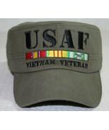 USAF United States Air Force Vietnam Veteran Green Flat Top Adjustable H... - $21.28