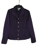 Coldwater Creek Purple Jean Jacket Size 8 PreOwned  - $14.00