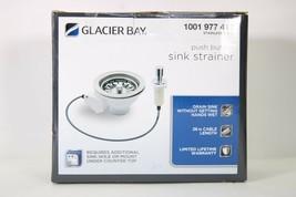 Glacier Bay 1001 977 412 push button sink strainer in stainless steel - $7.91