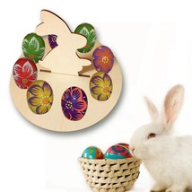 Easter Egg Shelves Wooden Ornament Egg Stand Rack Bunny Hen Pattern Home... - $12.92