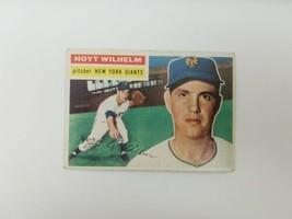 1956 Topps Hoyt Wilhelm Baseball Card New York Giants HOF - $12.59