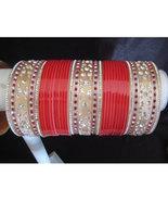 BangleEmpoirum Parampara: Cherry Red Choora Indian Bridal Bangle Bracele... - $39.99
