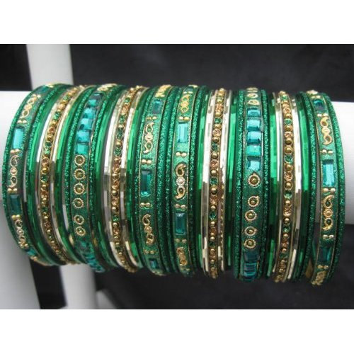 Primary image for Paisley: Dark Green Bangles X-Small 2.4