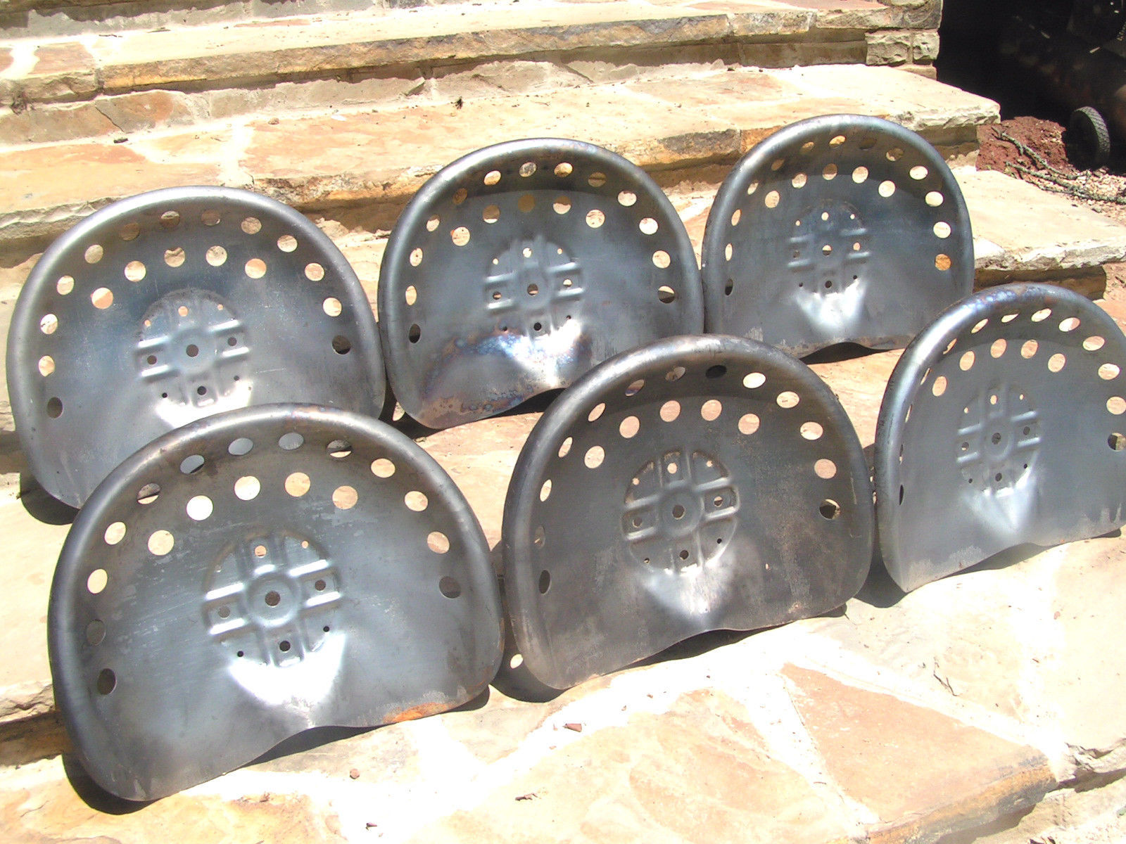 Old Tractor Seats : Six steel tractor seat bar stool tops new old style