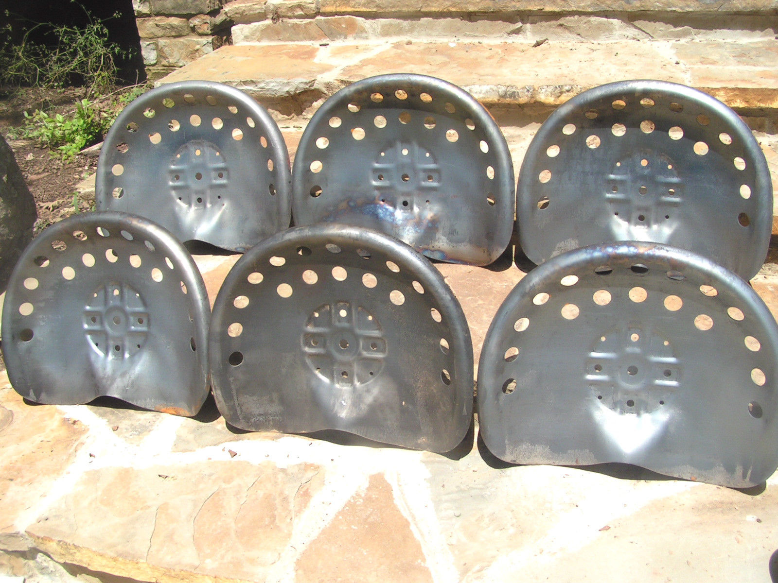 Old Time Tractor Seats : Six steel tractor seat bar stool tops new old style
