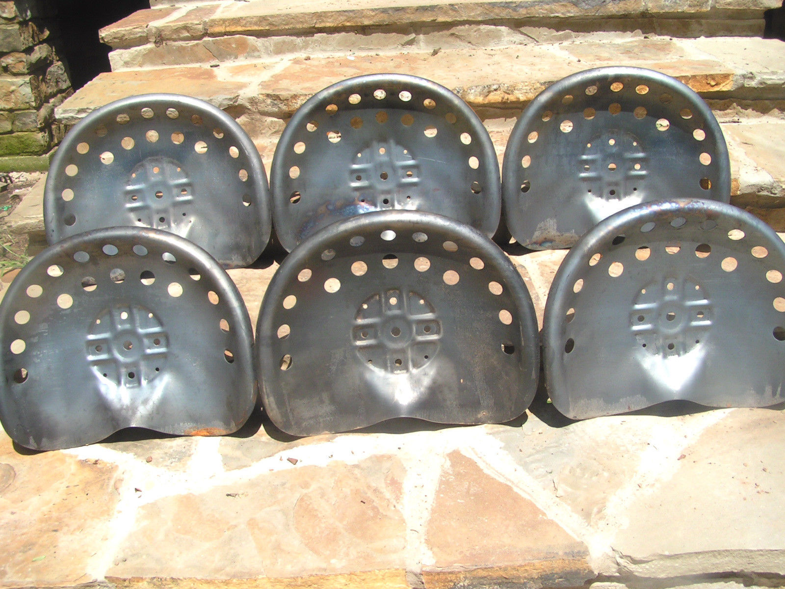 SIX Steel Tractor seat Bar Stool tops New Old Style  : SIXsteeltractorseatspanstyle3 from www.bonanza.com size 1600 x 1200 jpeg 391kB