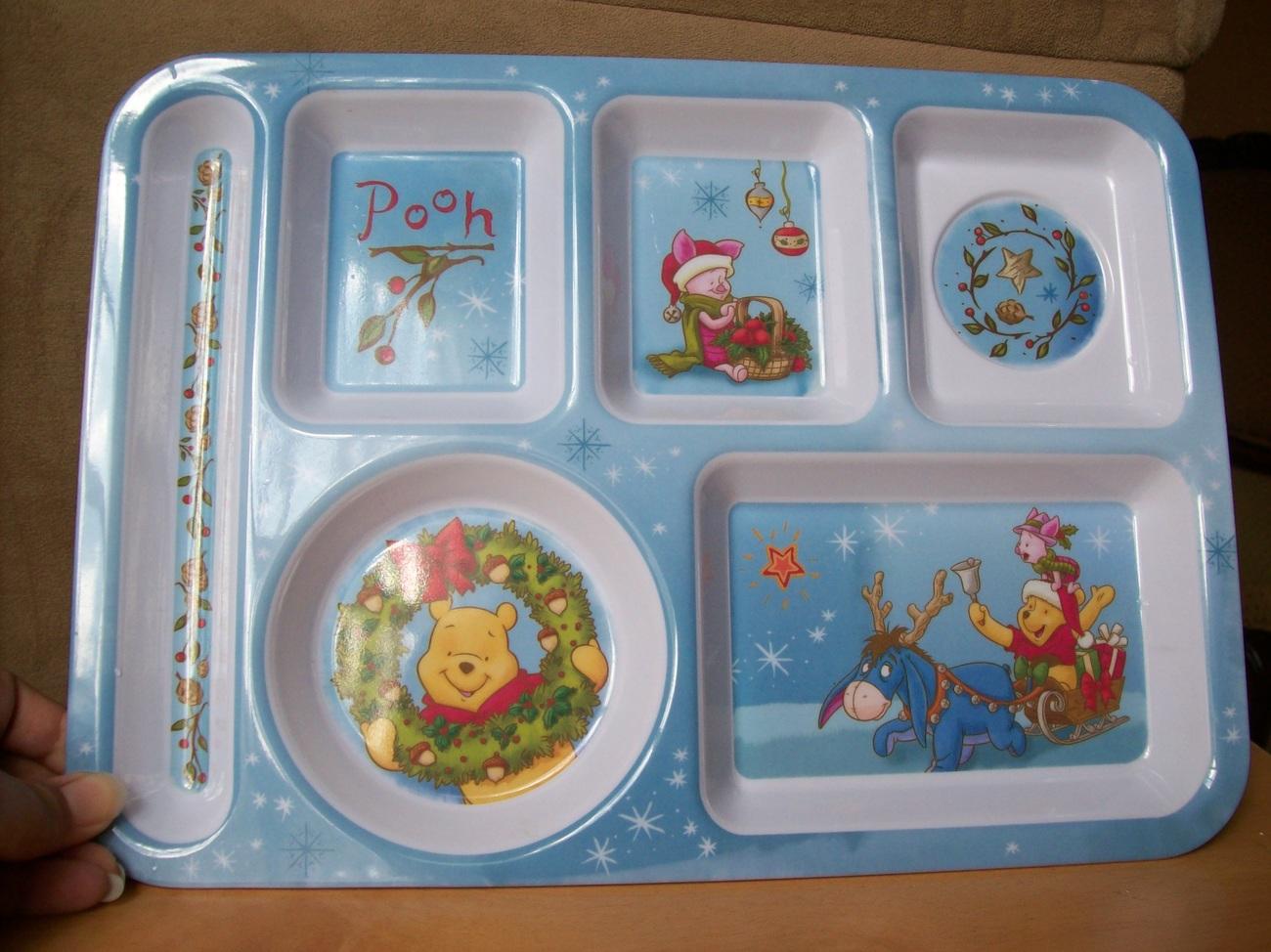 Disney Winnie the Pooh and Friends Melamine Children's Christmas Tray