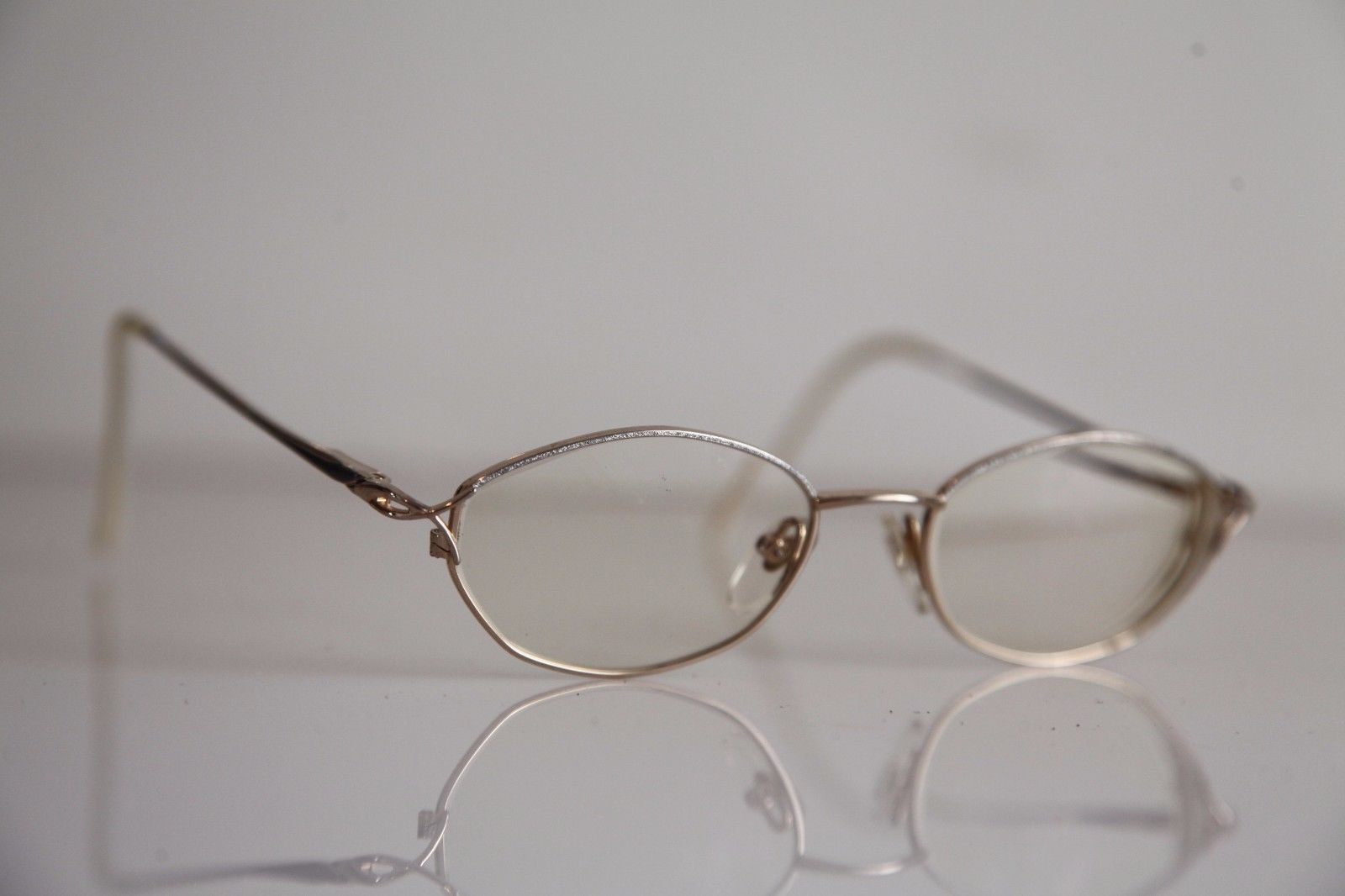 AMA Eyewear, Gold and Silver Frame,  RX-Able Prescription lenses. USA