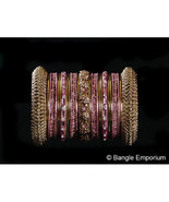 Indian Bridal Collection Panache Indian English Rose Bangles Set Gold To... - $39.99