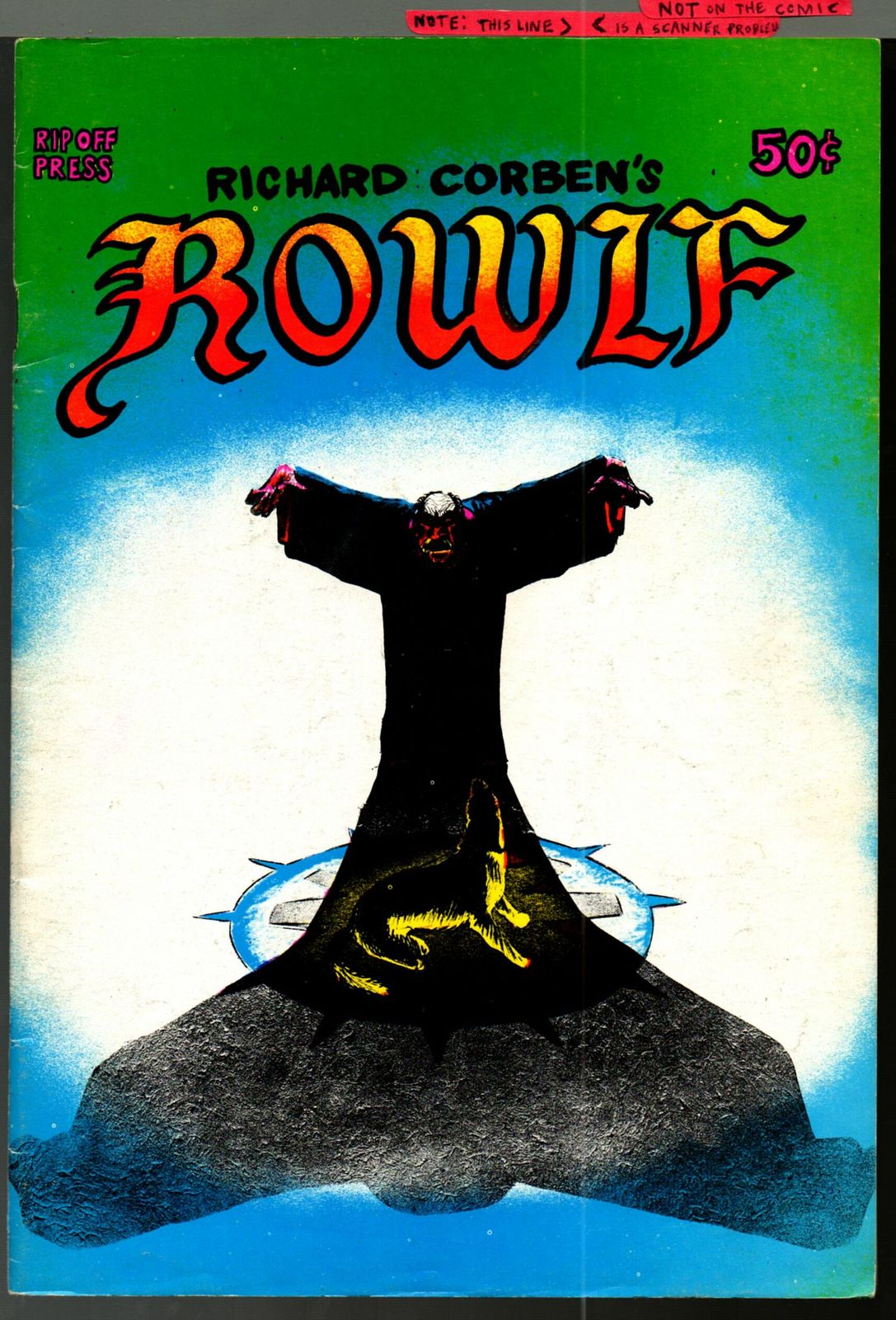 Rowlf, Rip Off Press 1971, Richard Corben, underground comix, 1st printing