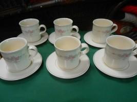 "Beautiful Pfaltzgraff ""Trousseau"" ....Set Of 6 Cups & Saucers - $24.34"