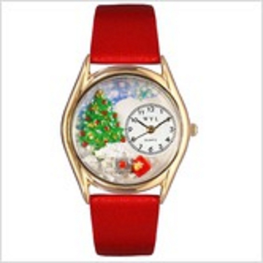 Whimsical womens girls and mens christmas tree red
