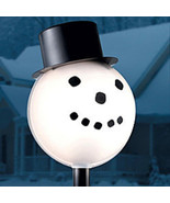 Snowman Head Christmas Outdoor Light lightpost / Lamppost Cover Shade - $159.95