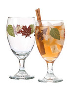 Thanksgiving Fall Leaves 16 oz Goblet Glass Set of 2 - $27.71