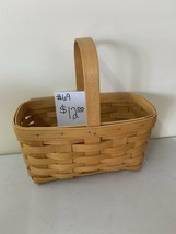"1999 Longaberger Basket 9"" x 5 x 9"" h to top of handle - $12.00"