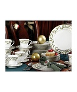 Christmas Holiday Gold Holly and Berry 40 Piece Dinnerware Set - $655.99