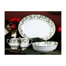 Christmas Holiday Gold Holly and Berry 5 Piece Completer Set - $350.99
