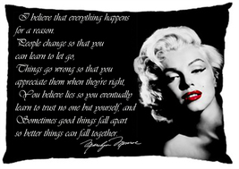 Marilyn Monroe Quote I believe Pillow Case (One Side) Home Decor Gift 34... - €16,27 EUR