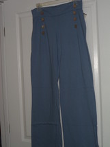 Spirit Ladies Knit Pants Size S Blue Made In Usa Nwt - $24.40 CAD