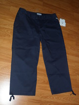 Caribbean Joe Capri Size 10 Navy Blue Msrp: $46.00 Nwt  - $21.99