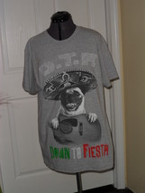 Delta  Mens Graphic T Shirt Size2 Xl Down To Fiesta Gray Nwt - $14.24