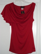 Lindsey Michele Blouse Stretch Top  Size 1 X Red U.S.A.Nwt - $14.99