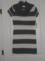 Bobbie Brooks Sweater Dress Size L Gray / White Nwt - $25.99