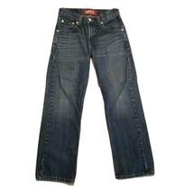 Boy's Levi 505 Denim Blue Jeans ~ Sz 10 Reg W25 L25 ~ Straight Leg  - $11.87