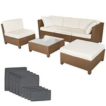 Multiform Garden Sofa Set Polyrattan Patio Balcony Furniture Cushioned B... - $710.09
