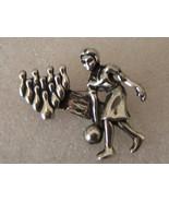 Vintage Bowling Woman Pin. Bowling Pins Pin. - $10.00