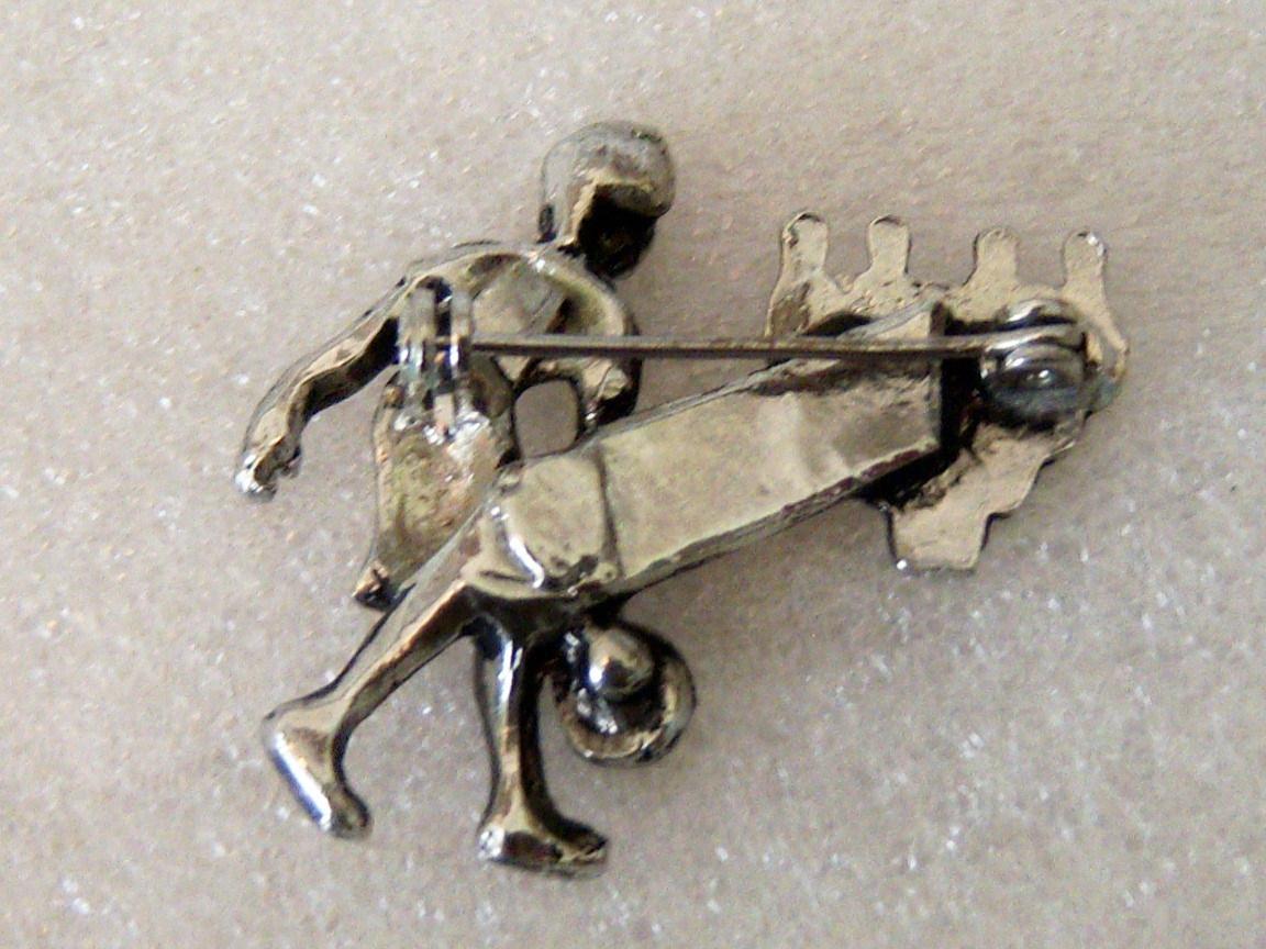 Vintage Bowling Woman Pin. Bowling Pins Pin.