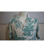 Caribbean Roundtree & Yorke Men's Short Sleeve Silk Hawiian Shirt size L... - $19.79