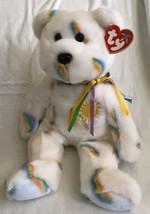 "TY BEANIE BUDDY ~ CHEERY THE SUNSHINE BEAR ~ 14"" 2002 Rainbows MWMT - $15.83"