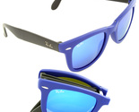 New Rayban Blue Folding Wayfarer 6020/17 Sunglasses RB Sun Glasses