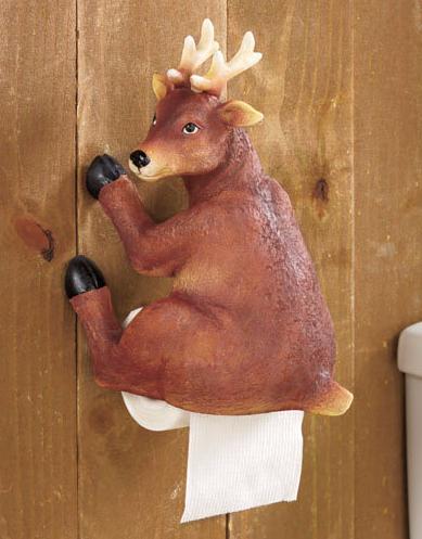 Woodland Booty Deer Toilet Paper Holder Toilet Paper