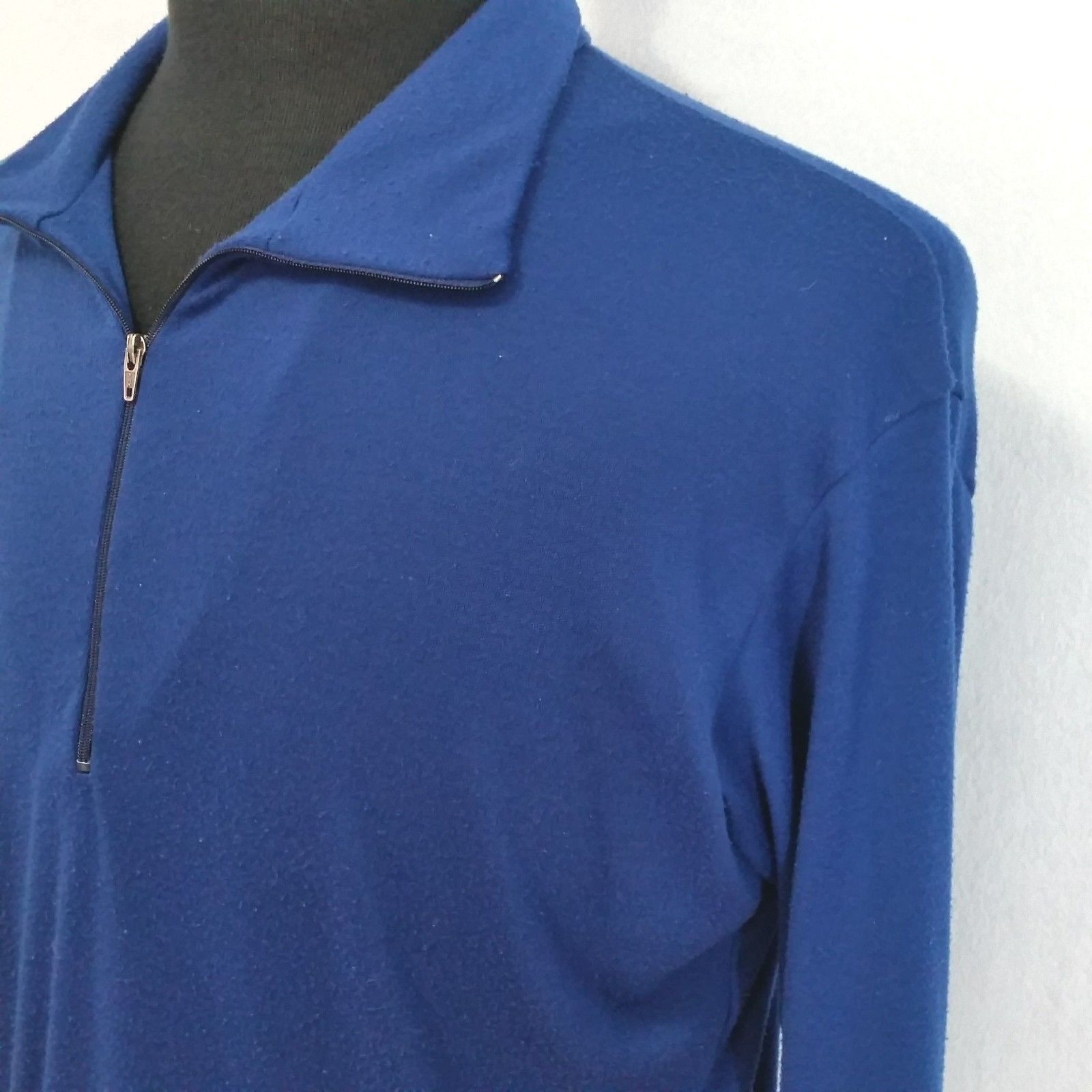 Patagonia Mens Blue Large Pullover Base Layer 1/4 Zip Vintage 90s USA Made 1992