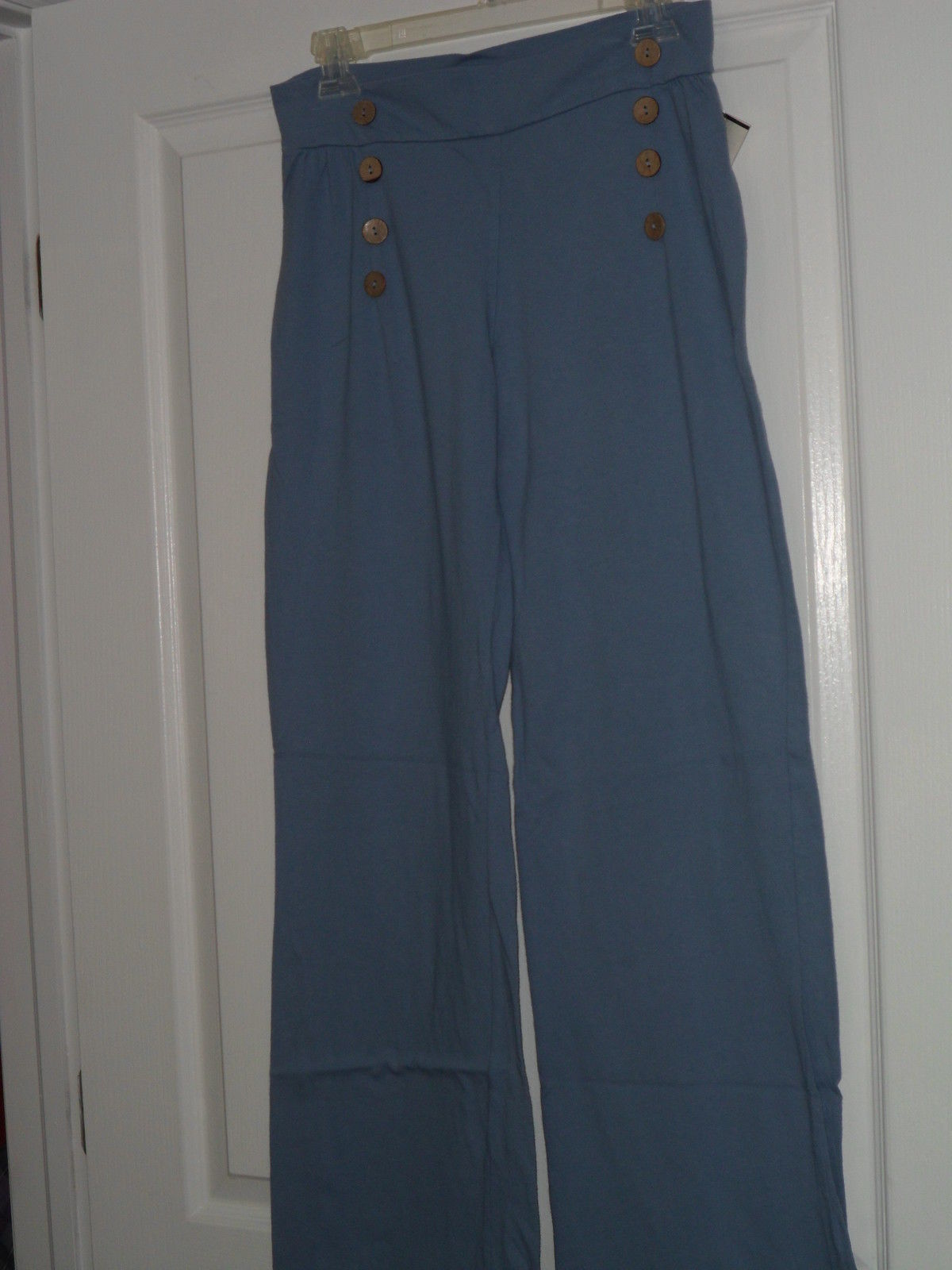SPIRIT LADIES KNIT PANTS SIZE XL 16  BLUE MADE IN USA NWT - $23.19 CAD