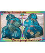 Silk Embroidered 3 Blue Nesting Clutch Bags Suitable for Ballroom to the... - $10.00
