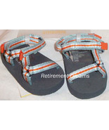 GYMBOREE Sandals Crib Shoes size 1 NEW AT THE BEACH Blue Orange White 01 - $9.00