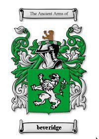 BEVERIDGE SURNAME COAT OF ARMS PRINT - GENEALOGY Bonanza