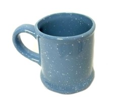 Vintage Common Loon Bird Water Cat tails Picture Blue Speckle Cup Mug Souvenir image 5