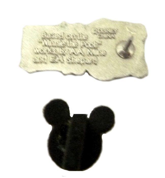 2009 Walt Disney WINNIE THE POOH SILHOUETTES PIGLET HEAD TRADING PIN