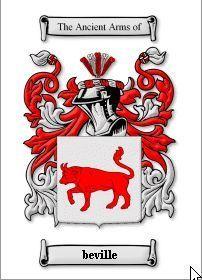 BEVILLE SURNAME COAT OF ARMS PRINT - GENEALOGY Bonanza