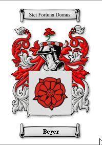 BEYER SURNAME COAT OF ARMS PRINT - GENEALOGY Bonanza