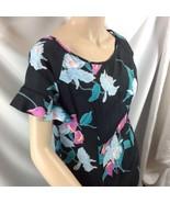 Kimo's Polynesian Shop USA Fishtail Maxi Dress Flounce Black Orchid M - $54.45