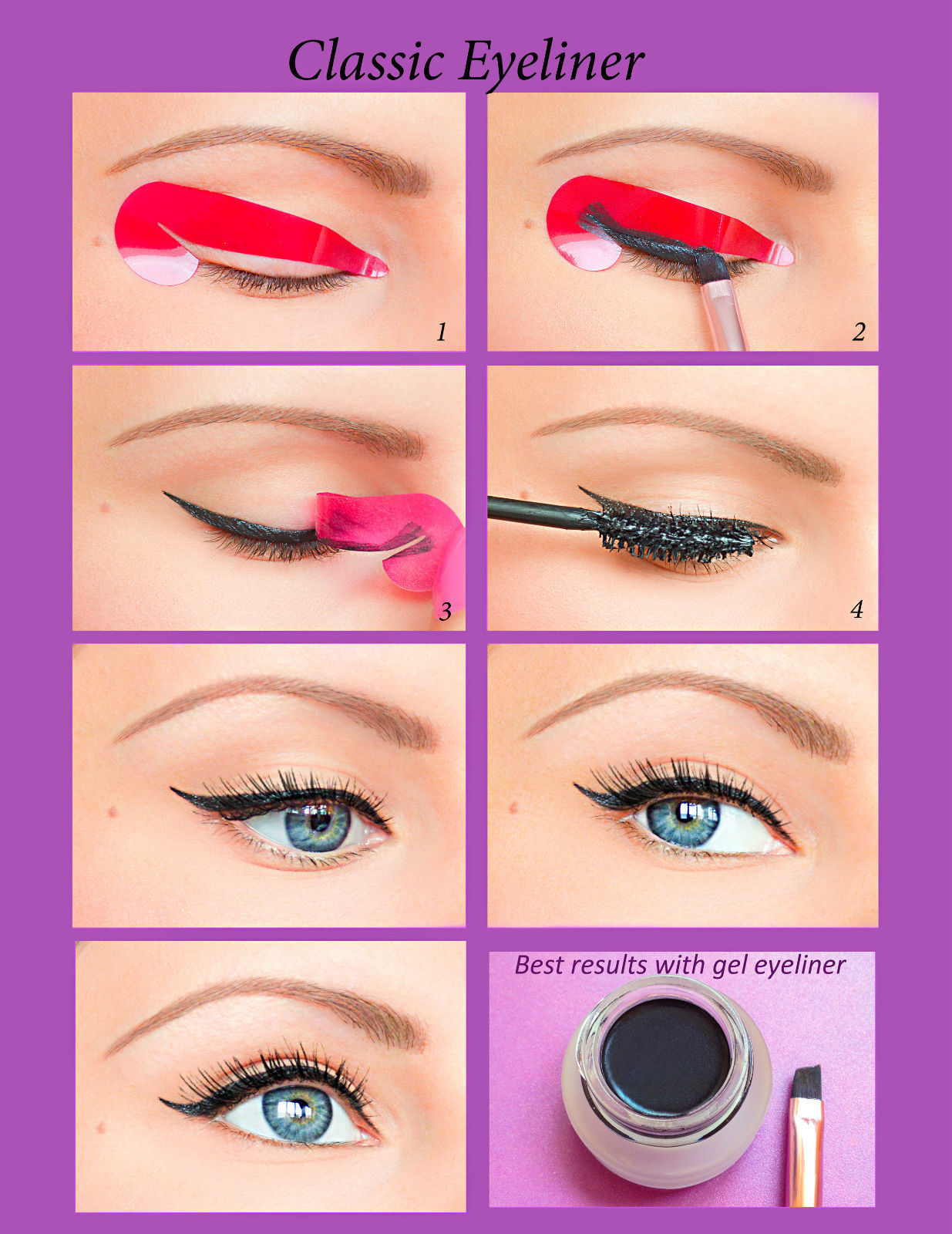 Quick Eyeliner Stickies Stencils Cosmetic Eye Makeup Tool NEW Free Shipping ES1